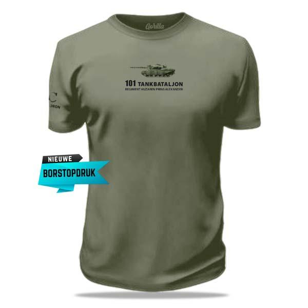 bedrukt t-shirt 101 tankbataljon