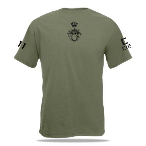 Rug bedrukking 11 infanterie bataljon