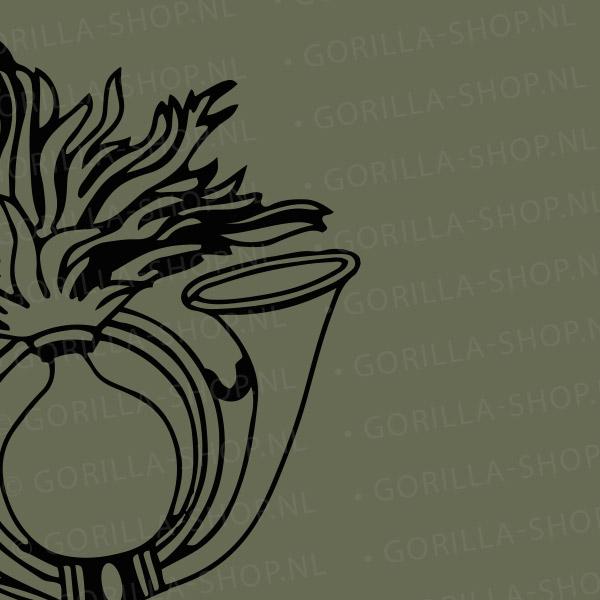 logo op t-shirt luchtmobiel