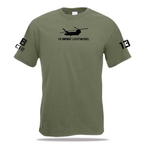 Groen t-shirt luchtmobiel