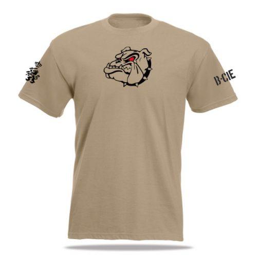 khaki BLJ t-shirt bedrukt