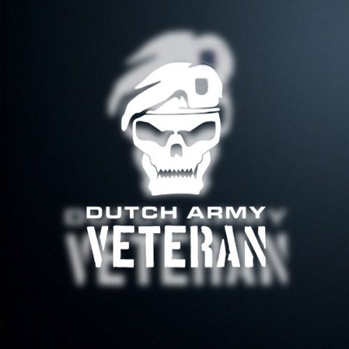 sticker Dutch Army veteran