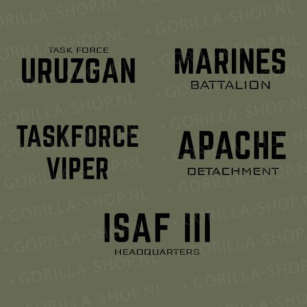 rugbedrukking ISAF