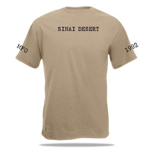 Sinai Desert opdruk op t-shirt