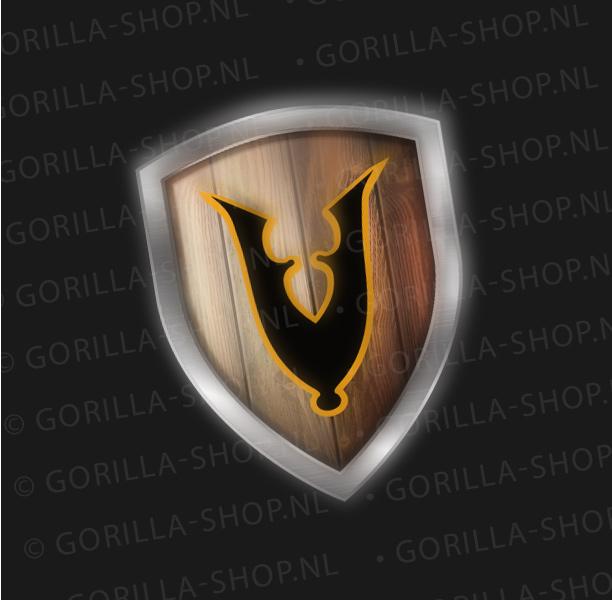 Schild met v-symbool