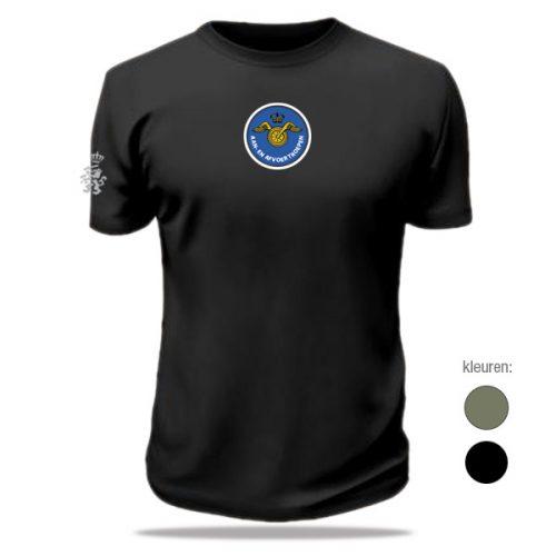 t-shirt aan- afvoertroepen