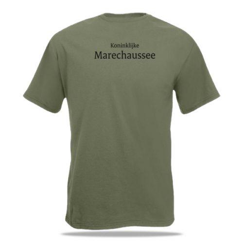 t-shirt bedrukken marechaussee