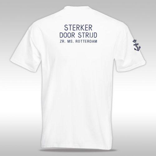 achterkant t-shirt Zr. Ms. Rotterdam