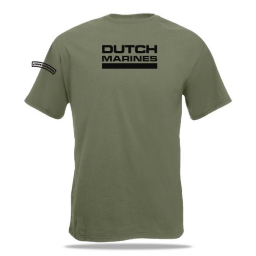 Achterzijde Mariniers t-shirt
