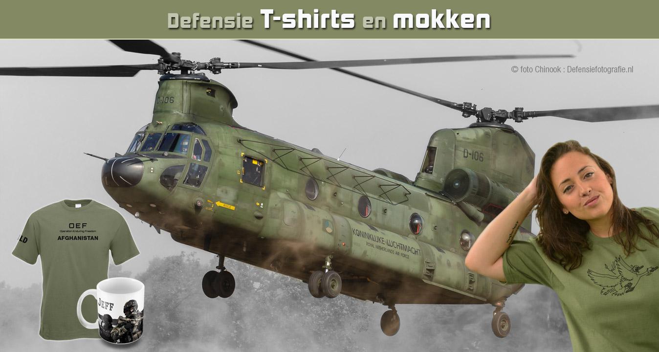 Webshop Defensie t-shirts